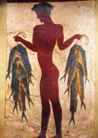 Minoan civilization, Crete11 Akrotiri fresco 3 - the Fisherman