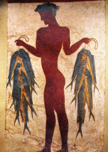 Minoan civilization, Crete11 Akrotiri fresco 3 - the Fisherman