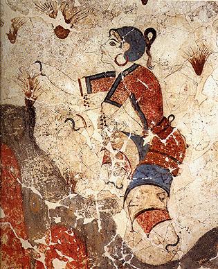 Minoan civilization, Cretethera_saffron_gatherers